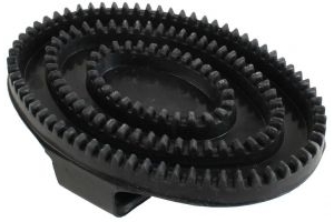 Shires Rubber Curry Comb Black
