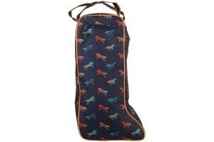Shires Long Boot Bag Horse Print