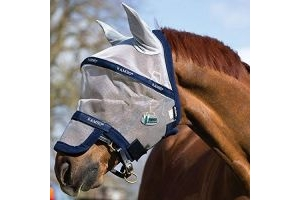 Horseware Rambo Fly Mask Plus Vamoose Full Silver/Navy
