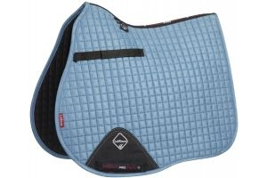 LeMieux ProSport Suede GP/Jump Square Saddle Pad Ice Blue