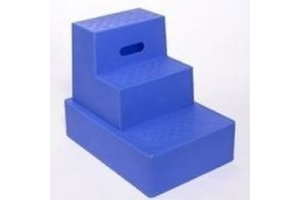 Classic Showjumps Unisex's Standard Mounting Block Three Tread, Blue, Regular