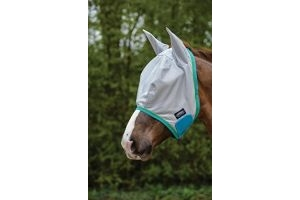 Weatherbeeta Comfitec Essential Mesh Mask Grey/Blue/Bright Green Pony