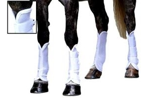 Shires Airflow Turnout Socks (Set of 4 Fly Boots)-White Cob