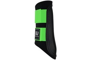 WOOF WEAR CLUB BRUSHING BOOTS - NEW COLOUR !! BLACK/LIME HORSE PONY EQUINE (SMALL)