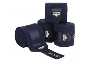 LeMieux Unisex's Loire Satin Polo Bandages Navy Set of 4, Full
