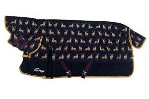 Shires Highlander Original 200G Horse Turnout Rug Combo in STAG PRINT 5'6