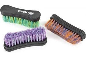 Shires Ezi Groom Face Brush One Size Purple Green