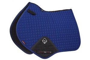 LeMieux Unisex's ProSport Cotton Close Contact Square Saddlepad, Benetton Blue, Large