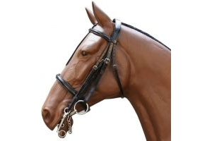 Sabre Hunter Double Weymouth Bridle Black