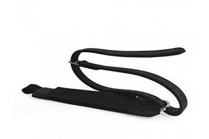 Freejump Pro Grip Stirrup Leathers - Black: Medium