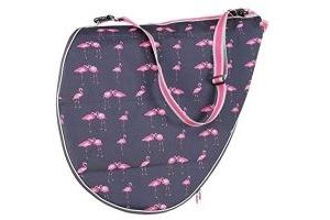 Shires Saddle Bag - Ltd Edition Flamingo Print