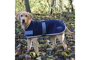 Weatherbeeta Thermic Dog Coat Navy/Grey/White