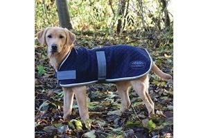 Weatherbeeta Thermic Dog Coat Navy/Grey/White