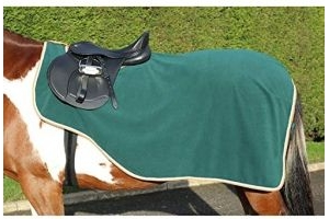 Shires Tempest Original Fleece Exercise Sheet 4ft Green Orange Grey