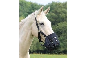 Shires Nylon Grazing Muzzle (New Improved Design)-Full Black