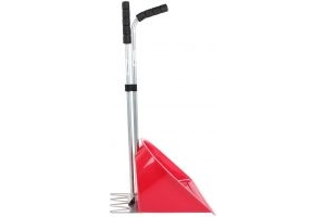 Shires Manure Scoop Tall Handle Red