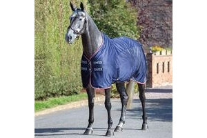 Shires Tempest Original Fleece/Mesh Cooler Rug Navy 84 Inch