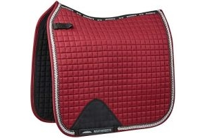 Weatherbeeta Prime Bling Dressage Saddle Pad Pony Maroon