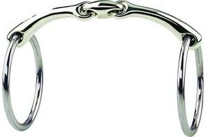 SPRENGER Wassertrensen Gebiss DYNAMIC RS 14 mm (Sensogan) mit Edelstahl Ringen, 13.5 cm, 14 mm