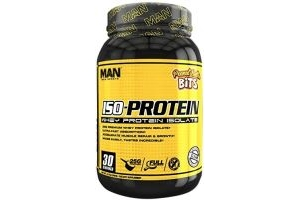 Man Sports Iso Protein 30 Servings Sports Supplement, 1 kg, Peanut Butter Bits