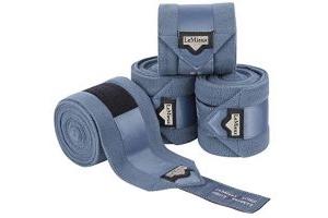 LeMieux Loire Satin Polo Full Size Bandages - Ice Blue (Set Of 4)