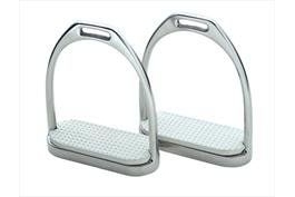 Shires Fillis Stirrup Irons-Stainless Steel/White 4