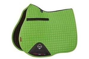 LeMieux Unisex's ProSport Suede GP Square Saddle Pad, Lime, Large