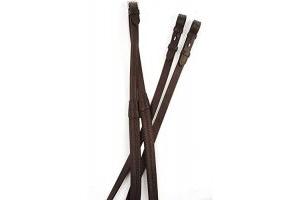 Kincade Rubber Reins Brown 48 inch