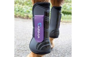 Shires ARMA Tendon Boot Full Size Black/Purple