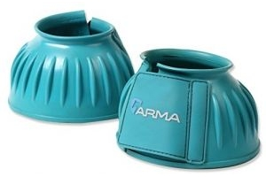 Shires Arma Rubber Touch Close Over Reach Boots in Teal Cob, Teal