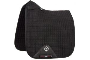 LeMieux ProSport Suede Dressage Square Saddle Pad Black