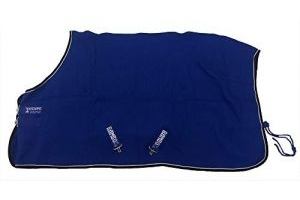 Horseware Rambo Techni Waffle Cooler Rug 5ft6 Royal Blue/Silver & Black