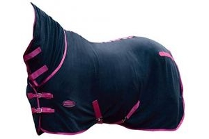 Weatherbeeta Fleece Combo Neck Cooler Rug 5ft3 Black Boysenberry