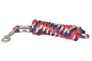 John Whitaker Unisex's WHT0405 Lead Rope Multi-Colour, Red/White/Blue, Regular