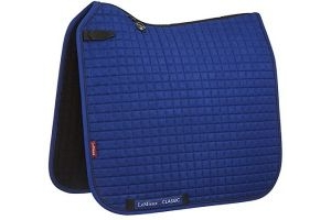 LeMieux Unisex's Classic Dressage Square Saddlepad, Benetton Blue/Navy, Large