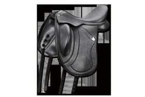 Bates Innova Mono Flap Dressage Saddle, Black, Size 0