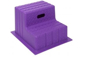 Classic Showjumps Standard 2 Step Mounting Block Purple