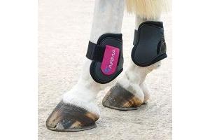 Shires ARMA Fetlock Boots Cob/Full Size Black/Pink