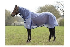 Weatherbeeta ComFiTec Ripshield Plus Combo Fly Rug 4ft3 White and Blue