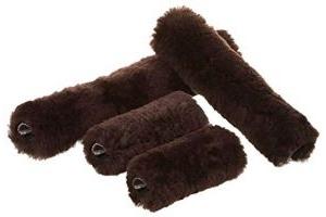 LeMieux Unisex's Lambskin Headcollar Set, Brown, One Size