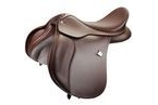 Bates Wide All Purpose Saddle With Short Points and Cair - Classic Brown - 46cm