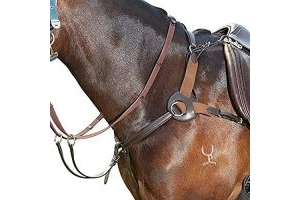 Kincade Leather Five Point Breastplate (Pony) (Black)