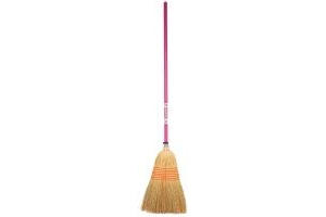 Faulks Corn Broom Large Pink