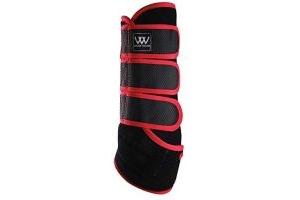 Woof Wear Dressage Wrap Black/Royal Red Medium