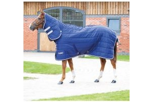 Shires Tempest Original 200 Medium Weight Combo Neck Stable Rug Navy/Grey