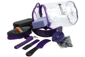 Roma Cylinder Grooming Kit 9 Piece Purple