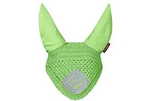 LeMieux Duke and Co Signature Fly Hoods, Large, Lime/Lime Braid
