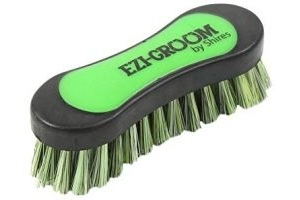 Shires Ezi-Groom Face Brush-Lime Green One Size