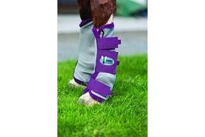 Horseware Rambo Fly Boots Vamoose Cob Silver/Purple