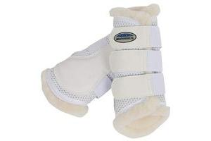 Weatherbeeta Sheepskin Exercise Boots - White: Full